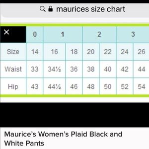 Maurices Pants - Maurices Stretchy Plaid Women's Pants Size 24